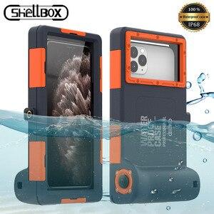 Image 1 - מקצועי צלילה מקרה עבור iPhone 11 פרו מקסימום X XR XS מקסימום מקרה 15 מטרים עמיד למים עומק כיסוי עבור iPhone 7 8 בתוספת Coque מקרה