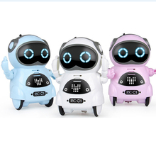 цена на Mini Smart Robot Interactive Talking Voice Recognition Record Singing Dancing Telling Story Robot Model Toy Gift For Kids
