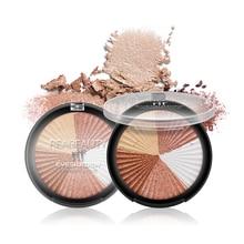 Dual-use Highlighter Bronzer Powder Cake Eye Shadow Face Contour Blush Long-lasting Face PowderOil Control Concealer Maquiagem