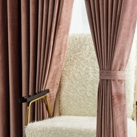 European Dutch Velvet Curtain for Bedroom window  Curtain Light luxury living room curtains solid blackout curtain