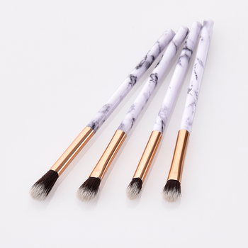 4pcs / set Profession Marble Cosmetic Makeup Brush Blusher Make Up Nylon Hair Eye Shadow Brushes Multipurpose Beauty Tool TSLM1