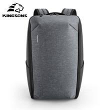 Kingsons 15.6 polegada mochila portátil grande capacidade mochila anti-ladrão usb de carregamento mochilas de viagem à prova dwaterproof água