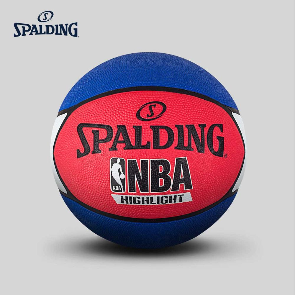 Spalding Basketball NBA Highlight Ball Size 7 Outdoor Durable Rubber Cover