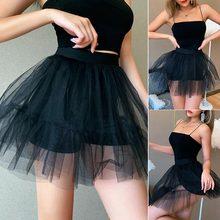 Мини фатиновая сетчатая трапециевидная модная юбка для женщин