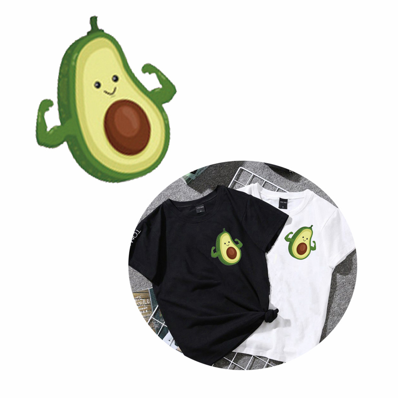 Avocado Cloth <font><b>Patch</b></font> Stickers for <font><b>Kids</b></font> Cartoon Fruit <font><b>Patches</b></font> <font><b>Iron</b></font>-<font><b>on</b></font> Heat Transfers DIY Decoration Appliqued for Women's Top image