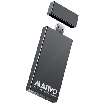 MAIWO 5Gbps USB 3.0 to mSATA SSD External Case Aluminum Alloy Portable Mobile Solid State Drive Box Support 30x30mm 51x30mm SSD
