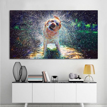 Reliabli Art Canvas Animal Pictures Dog Rain Oil Painting On Wall For Living Room Modern Decorative Poster Unframed