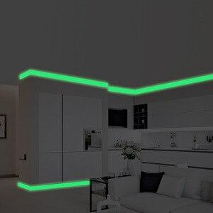 5cm * 300cm banda luminosa adesivo de parede brilho no escuro rodapé sala estar quarto decoração para casa decalque diy tira adesivos