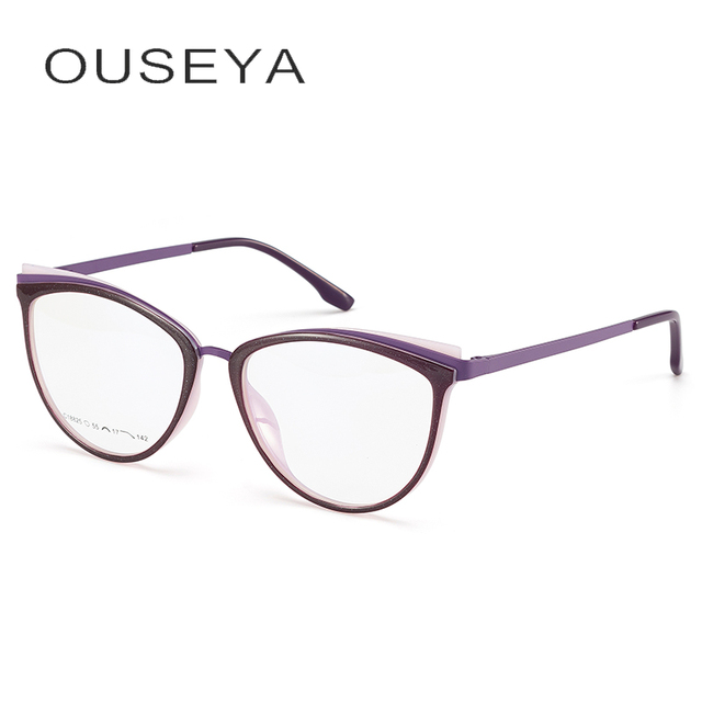 TR90 Womens Glasses Frame Transparent Spectacle Frame Myopia Optical Female Eyeglasses Frame Glasses Without Degree #C18825
