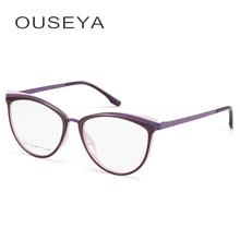 Tr90 óculos femininos quadro transparente armação de óculos miopia óptica feminino óculos quadro sem grau # c18825