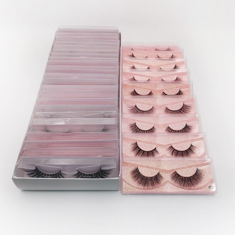 Image 5 - YSDO Lashes 20/30/40/50/100 PCS Mink Eyelashes Wholesale Natural False Eyelashes Extensions Makeup 3D Mink Lashes In Bulk CiliosFalse Eyelashes   -