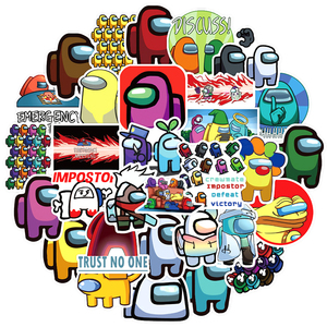 50pcs/pack Hot sale Game Among Us Graffiti Stickers For Notebook Motorcycle Skateboard Computer Mobile Phone Decal Cartoon Toy