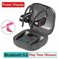 Wahre HBQ PRO TWS drahtlose kopfhörer Bluetooth 5,0 Stereo Sport kopfhörer fall 950mah Wasserdichte ohr haken Headsets MIC PK q32 Q67