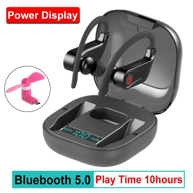 True HBQ PRO TWS sans fil écouteur Bluetooth 5.0 stéréo Sport casque case 950mah étanche oreille crochet casques micro PK Q32 Q62