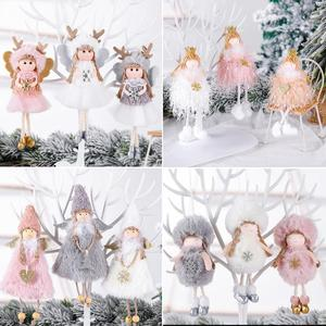 FENGRISE Merry Christmas Decorations For Home 2020 Christmas Angel Doll Xmas Navidad Noel Gifts Christmas Ornament New Year 2021