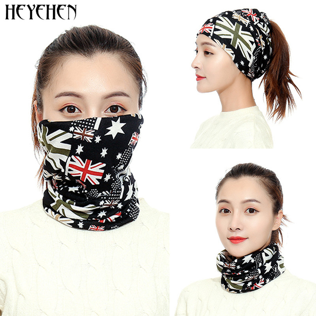 New Design Fashion Unisex Winter Autumn Warm Ring Bandana Scarf Knitting Men Headband Wome Face Mask Camouflage Multifunction