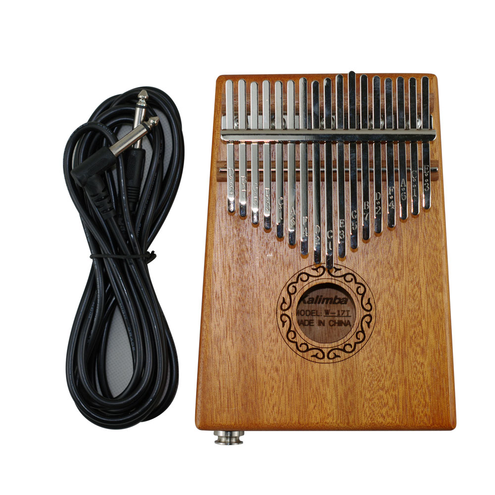 17 Keys Electric Kalimba African Solid Mahogany Thumb Finger Piano Mbira Toy Acoustic olid Wood Keyboard Set Musical Instruments