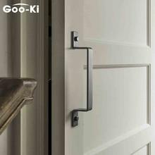 Goo-Ki Carbon Steel Barn Door Handle Sliding Door Handle Modern Wooden Door Handle Push Pull Door Handle