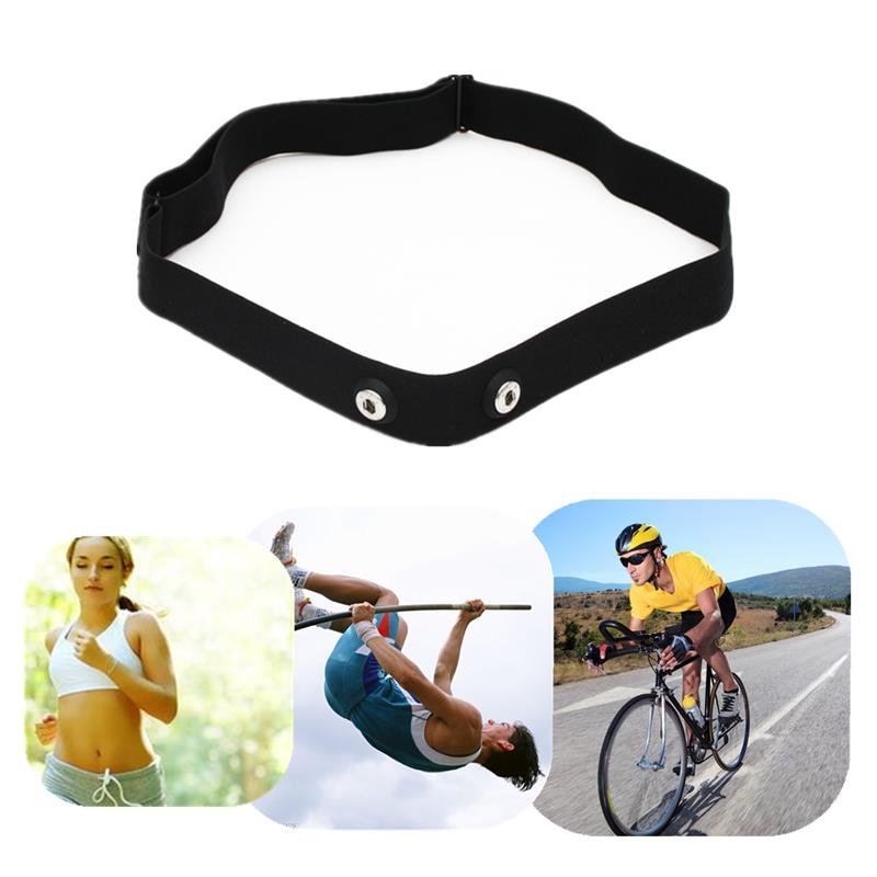 Soft Elastic Heart Rate Monitor Adjustable Chest Mount Belt Strap Band Sport Running Gym Fitness Equipment For Body Building
