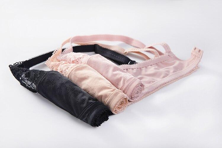 Женский удобный из тонкой ткани с цветочным кружевом бюстгальтер без косточек жаккардовый полный охват беспроводной бюстгальтер