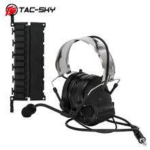 COMTAC III TAC-SKY tactical headset C3 comtac iii silicone earmuff version noise reduction pickup Airsoft military  headset BK