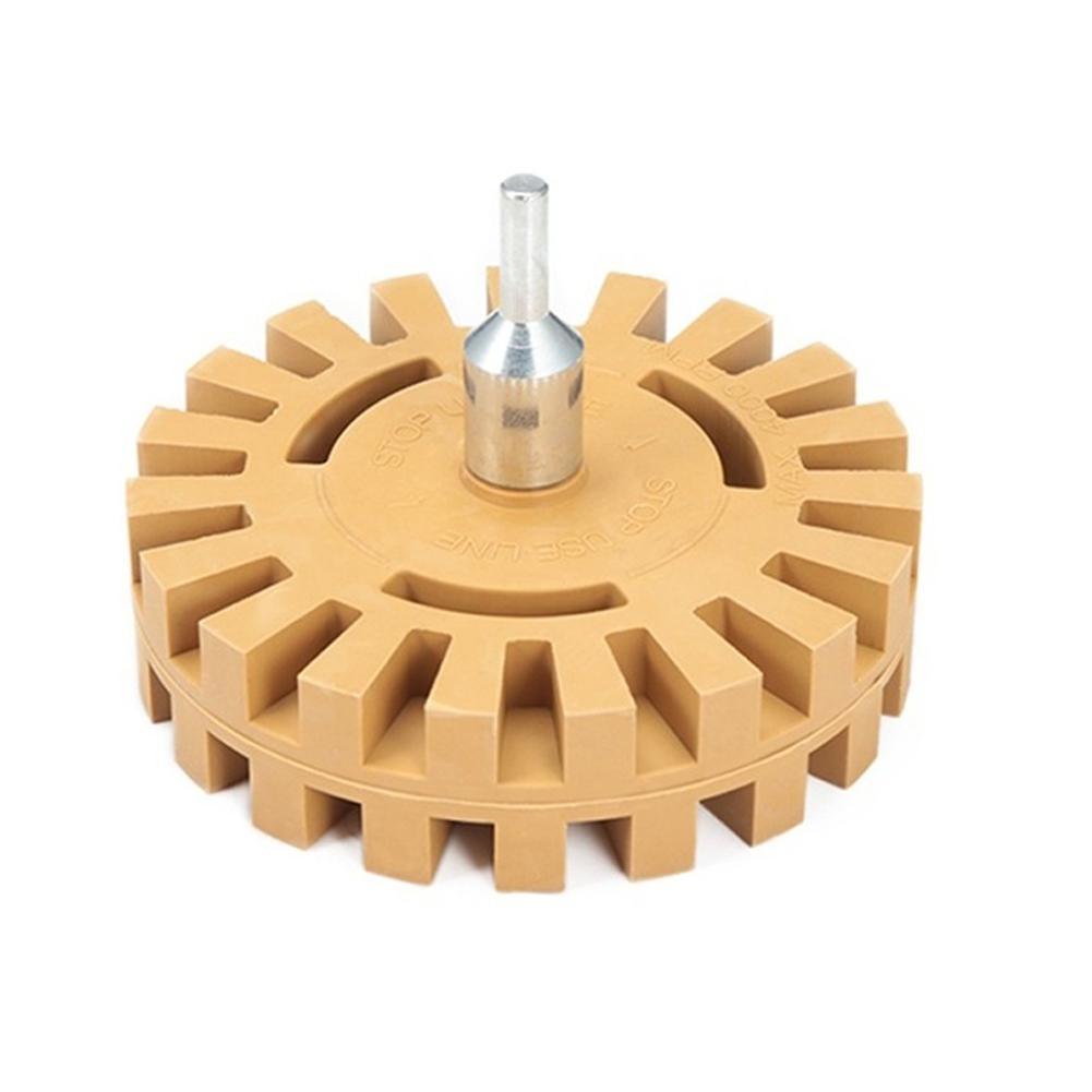 4 дюйма Универсальный Резиновый Ластик колесо адаптер для удаления наклеек краска графика ремонт клей полосатый автомобильный инструмент наклейка F0U3 Уход за пластиком и резиной    АлиЭкспресс