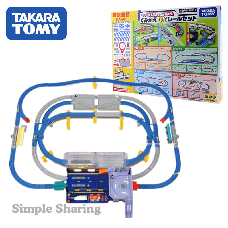 Takara Tomy Plarail Let The Train Go ! Recombination Action DX Rail Set 63pcs