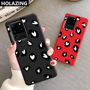 Gel-Case Samsung Galaxy Heart-Cover Ultra-Note for S20/Ultra-note/10-plus/.. 9-8/leopard-Printed