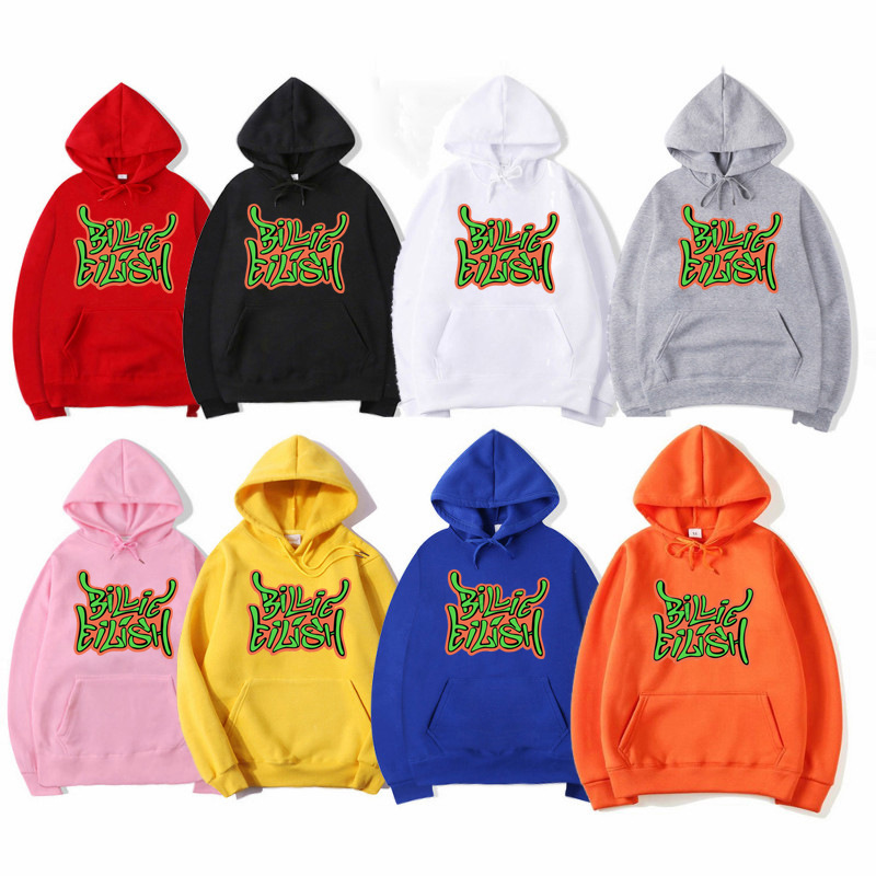 Billie Eilish Hoodie Sweatshirt Oversized Hooded Women Men Sweatshirt Clothes Harajuku Casual Hot Sale Hoodies Kpop Sweatshirts