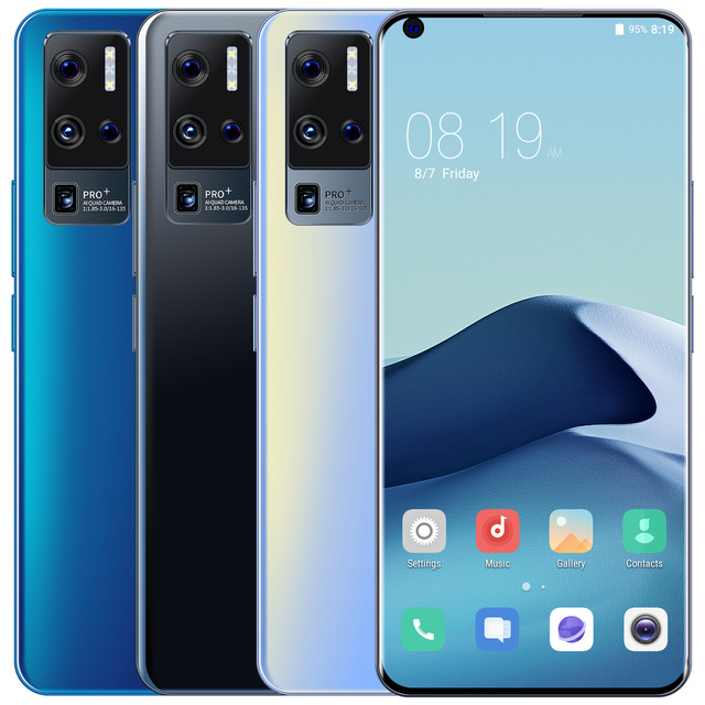 X50 Pro + Smartphone Version globale téléphone portable 6.8 pouces plein écran Deca Core 3200mAh 2GB 32GB 4G LTE réseau téléphone portable