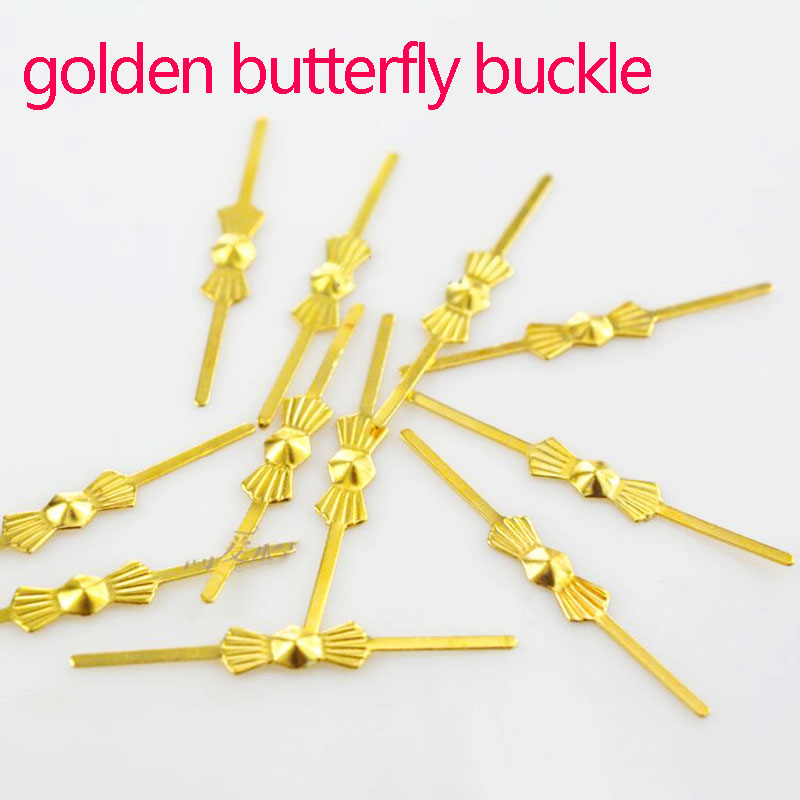 100pcs Chandelier Lamp Parts Crystal Beads Metal Connector Golden Chrome Bowtie Pin  Buttery Buckle Buttery Buckle Metal Links