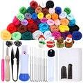 MIUSIE 16/25 Color Needle Felting Kit Wool Felting Tools Handmade Felt Needle Set 7pcs Pack Felting Fabric Materials Accessories