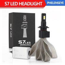 S7 Cветодиодные лампы для авто фары led лампа ходовые огни лед диодные лампы для авто автомобиля фара прожектор 72Вт 8000LM 6000К супер яркий H1 H3 H4 H7 H11 9005 9006 светодиодный налобный фонарь Водонепроницаемый 2шт