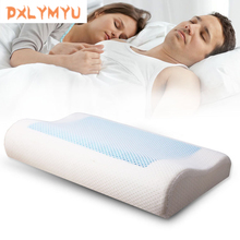 Poduszka odkształcająca się pianką białe łóżko żelowa poduszka niebieska chłodząca poduszka ortopedyczna do spania zmęczenie ulga poduszka zewnętrzna
