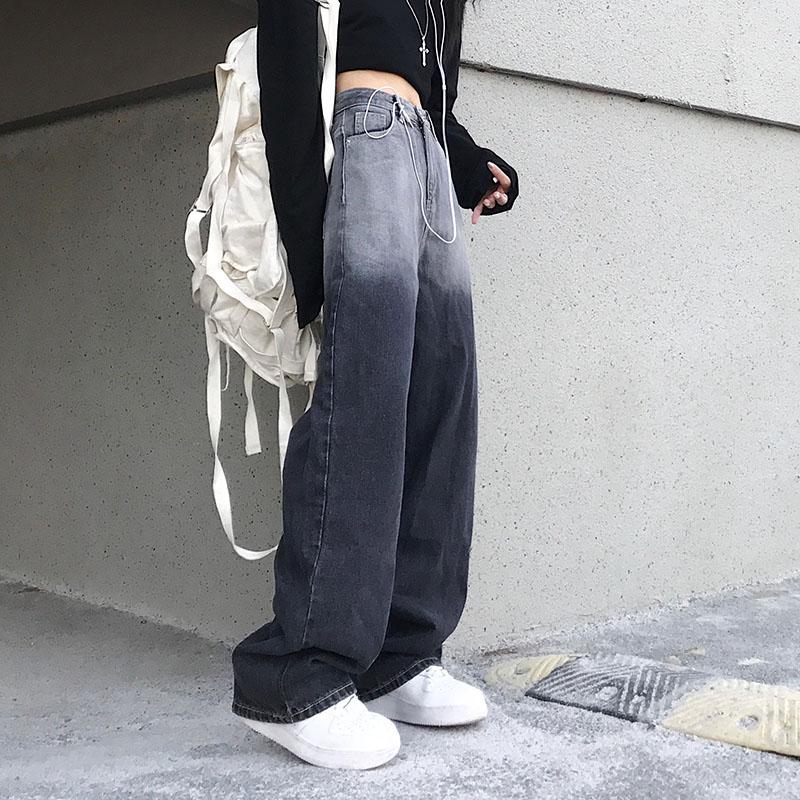 Woman Jeans High Waist Clothes Wide Leg Denim Clothing Blue Streetwear Vintage Quality 2021 Fashion Harajuku Straight Pants 4