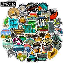 50 PCS Camping Travel Stickers Wilderness Adventure Outdoor Landscape Waterproof Decal Sticker to DIY Laptop Suitcase Motor Car