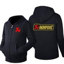2021 NEUE Herbst winter akrapovic logo zipper sweatshirts Gedruckt Männer fleecel Mit Kapuze jacke Hoodies Zipper Hoody 457