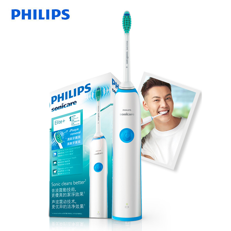 Philips Sonic Electric Toothbrush HX3216 with Easy Click-On Brushhead Rechargeable Up to 10 days and Ergonomic Design for Adults image