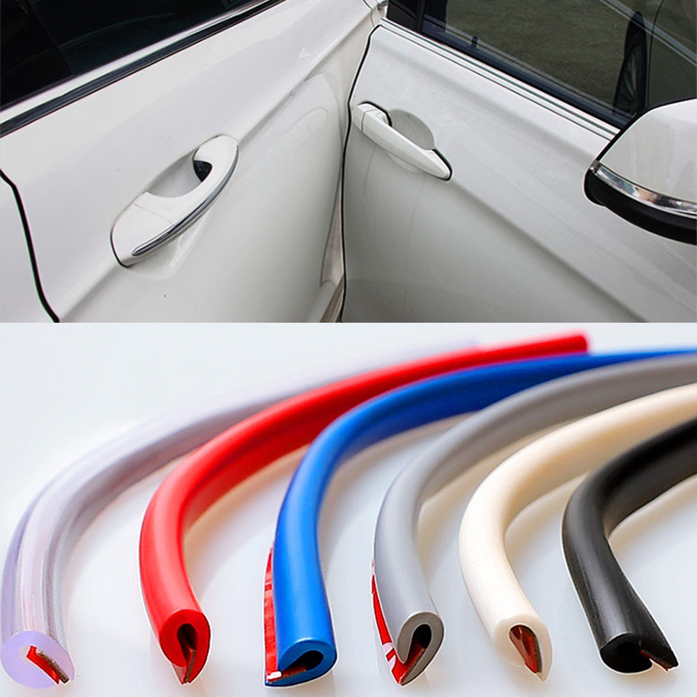 Car Styling Stickers Door Protector Styling Mouldings Rubber Guard Edge Protection Strips Auto Sticker Car-styling Accessories