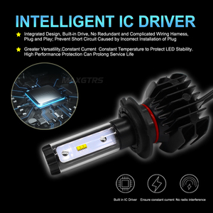 Image 4 - 2x H7 H4 LED H11 9005 HB3 9006 HB4 H8 H13 H16 EU 9012 9000Lm Car Led Headlight Blubs Lamp 6000K 50W Auto Light Headlamps DC12V