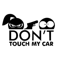 Funny car sticker Safety Warning Decor Car Sticker DON'T TOUCH MY CAR Shooting Styling Decal наклейки на машину 2