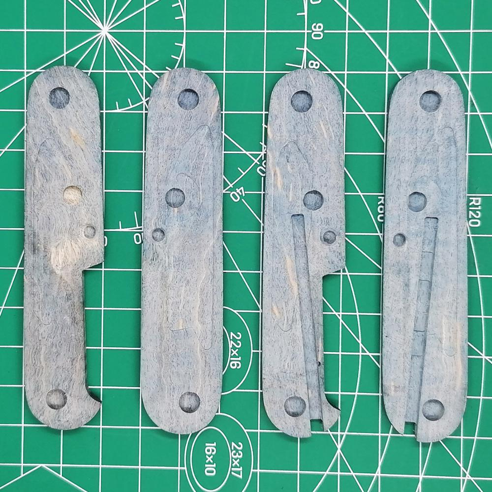 Handle Army EDC DIY Wood Knife Swiss Maple Pair Stabilized Wood 1 For Handle Victorinox Mod Scale 91mm