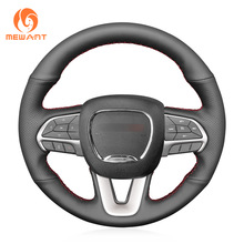 MEWANT Black Artificial Leather Steering Wheel Cover for Dodge Challenger Dodge Charger 2015-2021 Dodge Durango 2018-2021