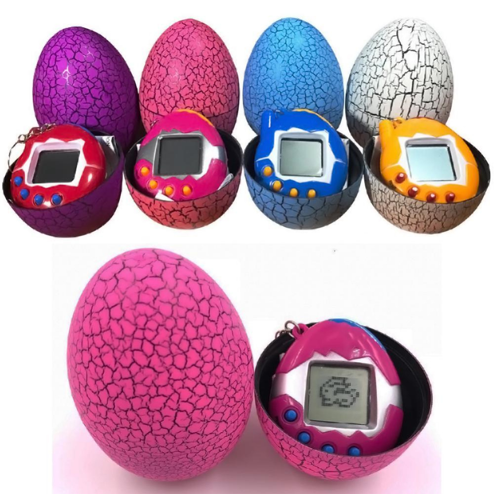 Hot Multi-colors Dinosaur Egg Virtual Cyber Digital Pet Game Toy Tamagotchis Digital Electronic E-Pet Christmas Gift
