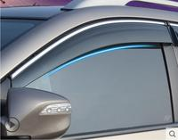 4pcs Chrome Janela Visor Defletor Sun Escudo Chuva Para VW Volkswagen Tiguan 2008 2015 Estilo de cromo     -