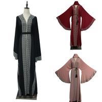 Dubai Style Abaya Wedding Women Abayas Burkha Farasha Jalabiya Jilbab Dress Kaftan Luxury Rhinestone Flare Sleeve Kimono Robe