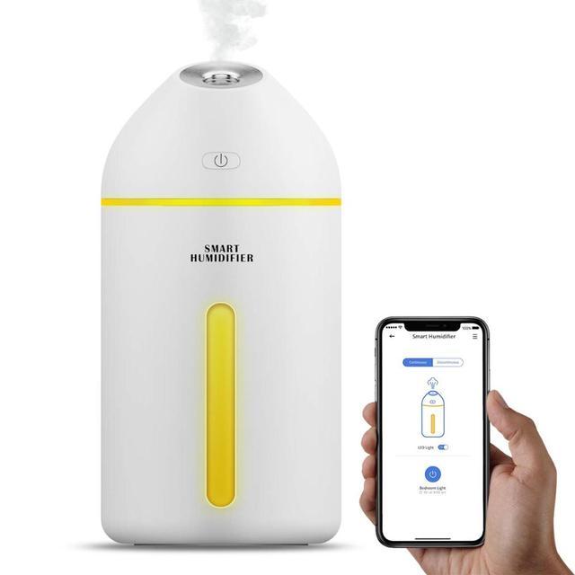 Смарт увлажнитель воздуха 320 мл, холодный туман, работает с Amazon Alexa, Google Assistant, для детской комнаты, автомобиля