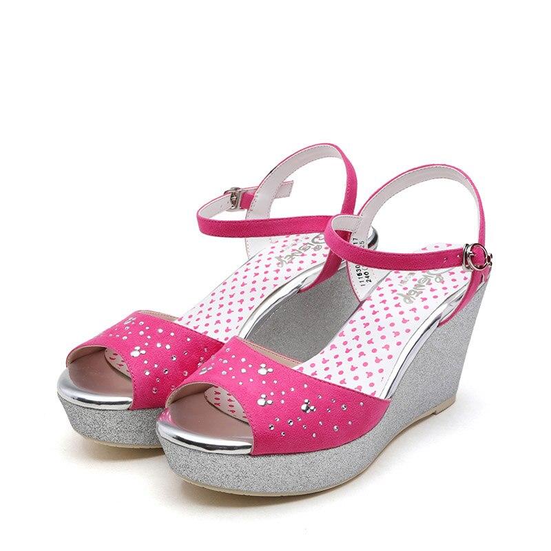 Girls Minnie Mickey Mouse High Heel Sandals Disney Open Toe Casual Comfort Sprincess Dance Shoes