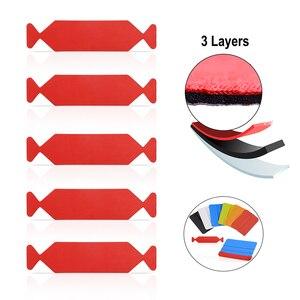 Image 1 - FOSHIO 5pcs 3 Lagen Waterdichte Stof Doek voor Alle 10cm Zuigmond Auto Vinyl Carbon Wrap Gereedschappen Venster tint Schraper Rand