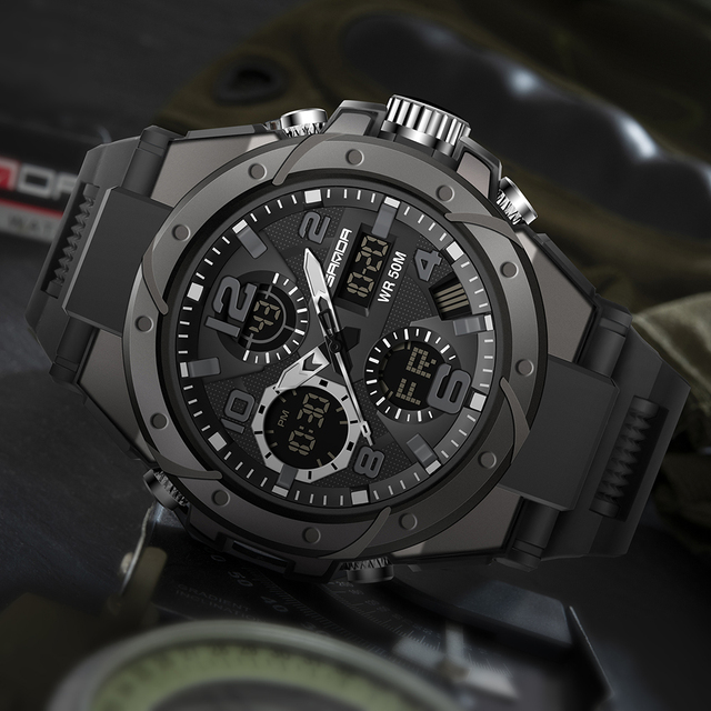 SANDA Top Luxury Watches Men Military Army Mens Watch 4